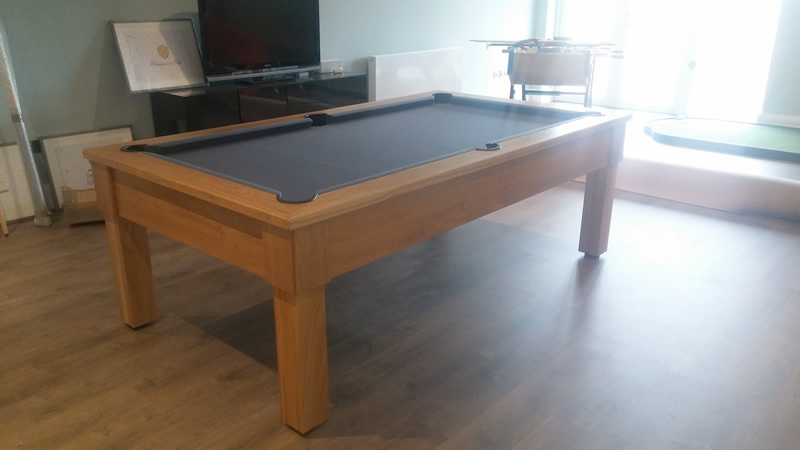 Solid Oak 8ft Pool Table